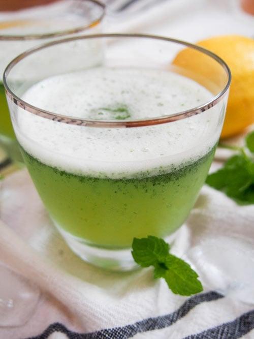 Limonana Middle Eastern Mint Lemonade with fresh mint garnish