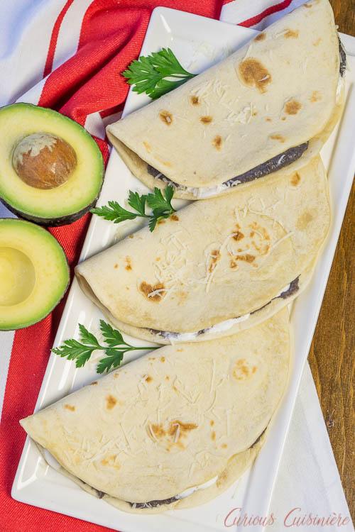 Tortilhas de feijão Baleadas Honduran com tortilhas de farinha caseira