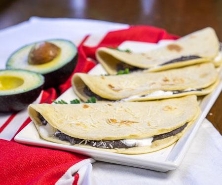 Honduran Baleadas Bean Tortillas