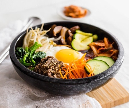 Korean Beef Bibimbap Mixed Rice Bowl Curious Cuisiniere