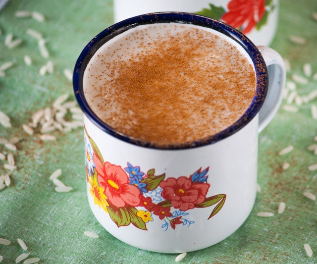 A mug of Guatemalan Atolillo Hot Rice Atole Drink