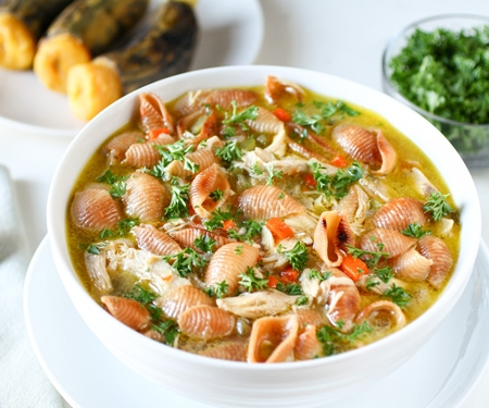 Bolivian Chicken Noodle Soup bowl