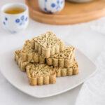 Chinese Macau-Style Mung Bean Almond Cookies