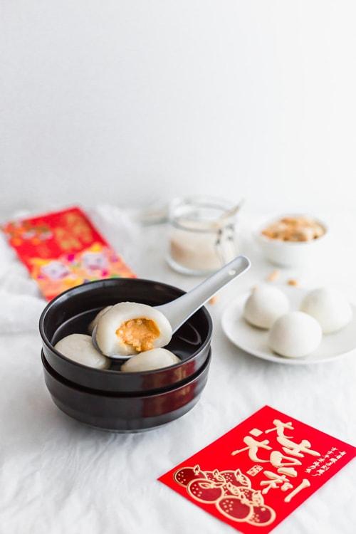 Peanut Tang Yuan - Glutinous Rice Balls with peanut filling for Lantern Festival