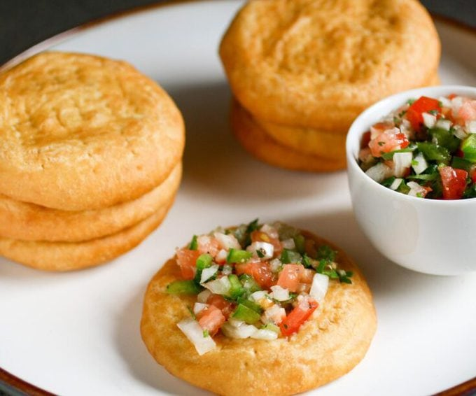 Chilean Sopaipillas With Pebre Curious Cuisiniere