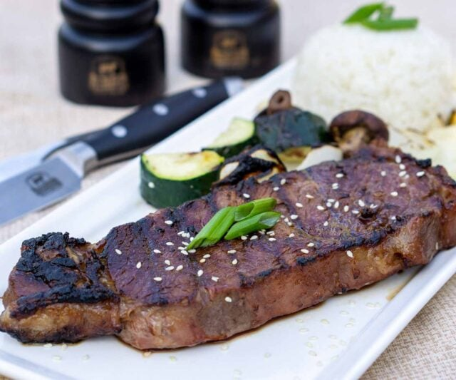 Japanese hibachi New York Strip steak