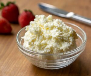 British Clotted Cream made in the slow cooker - ready for scones