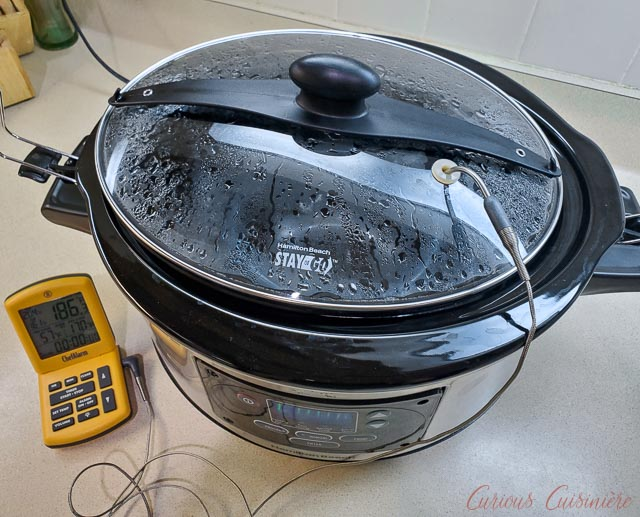 Testing the slow cooker for clotted cream