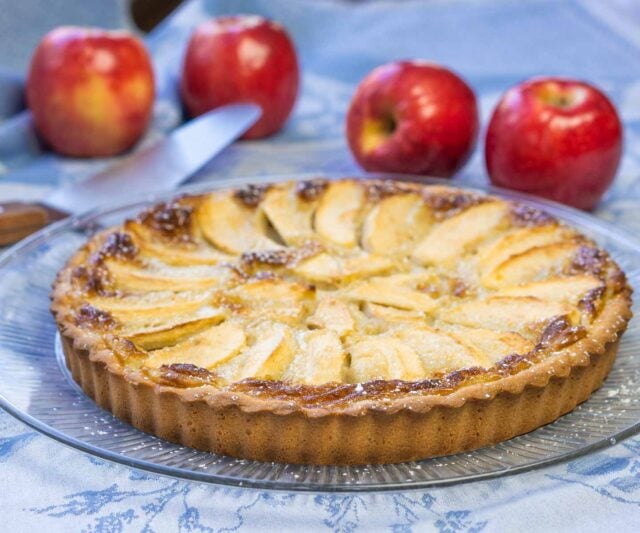 Tarte Normande (French Apple Tart) wide picture