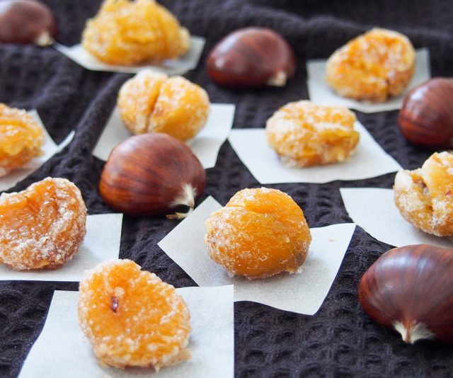Marron Glace (French Candied Chestnuts) serving