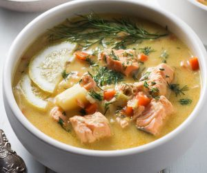 Finnish Salmon Soup - Lohikeitto - picture