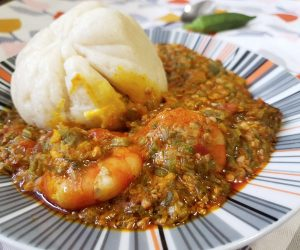 West African Seafood Okro Stew