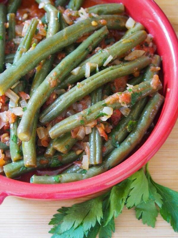 Fasolakia - Greek Green Beans Lenten main dish