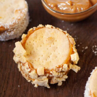 Chilenitos - Chilean Dulce de Leche sandwich cookies rolled in cookie crumbs