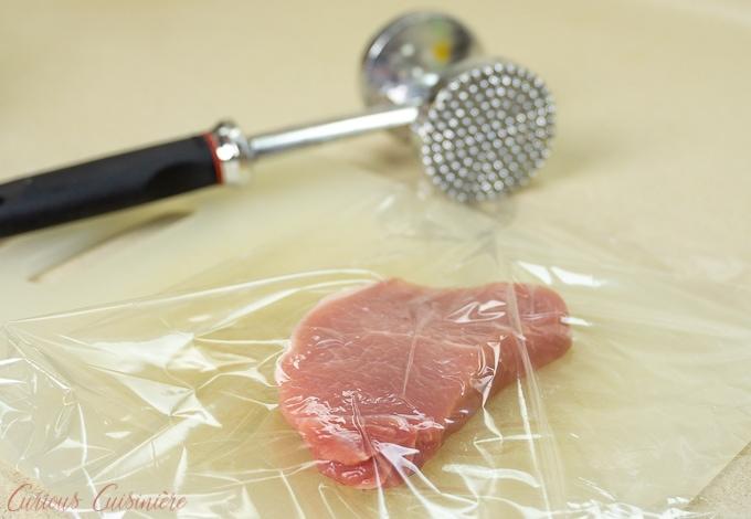 Pork chop for Schweineschnitzel (German Pork Schnitzel)
